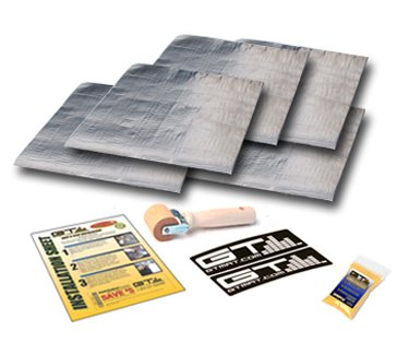 $$  GTMAT 110 36 sqft **BULK PACK** Automotive Audio Constrained Layer Dampening 110mil Super Thick- Sound Deadening Installation Kit Includes: 36sqft (qty 9- 36in X 16in sheets), Instruction Sheet, Application Roller, Degreaser, GT MAT Decals