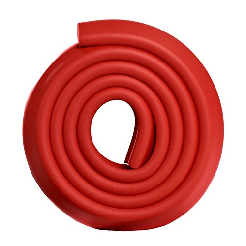 Paico Home Toddler Safty Protector Foam Edge Guard NBR Material 2 Meters - Red