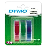Dymo Labelmaker Refill Tape 3/8 In. X 9.8 Ft. Blue