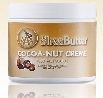 AAA Shea Butter 100% All Natural Cocoa-Nut Creme, Net WT. 4 fl. oz. Cocoa Creme
