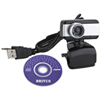 Dcolor USB Webcam Web Cam Camera With MIC CD For Desktop PC Laptop Black