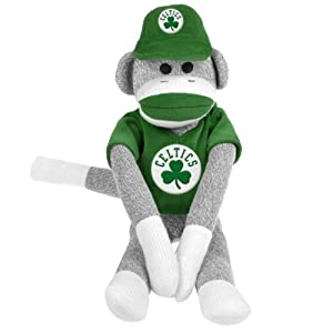 NBA Boston Celtics Uniform Sock Monkey by Forever Collectibles