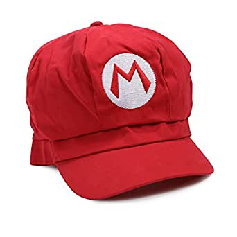 Landisun Super Mario Bros Luigi Costume Hat Anime Adult Unisex Cosplay Cap