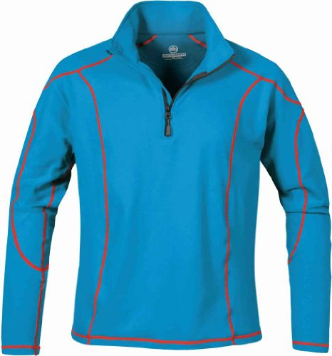 Stormtech Pl-2 Men'S Fleece Pullover Electric Blue/Flame Red Large