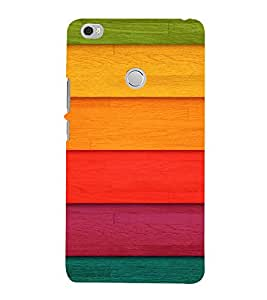 PrintVisa Colorful Wood Pattern 3D Hard Polycarbonate Designer Back Case Cover for Xiaomi Max
