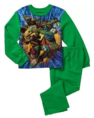 Teenage Mutant Ninja Turtles 2 Piece Fleece Little & Big Boys Pajama Set (X-Small 4/5)