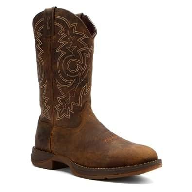 "Durango Western Boots Mens 12"" Rebel Pull Round Toe 8 D Brown DB4243"