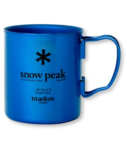 Snow Peak Titanium Double Wall 450 Mug, Fresh Water Blue (Snow Peak Travel Mug compare prices)