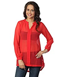 Love From India - Red Tunic For Women_100339_RED_S