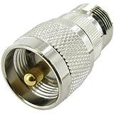 N Female to UHF Male Plug Coax Adapter
