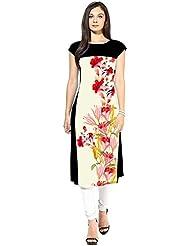 Mastani Kreation's Art Crepe Digital Floral Printed Knee Length Kurta