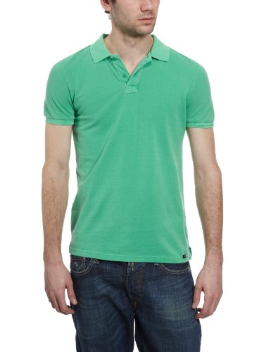 Lee Stoned Polo Plain Men's T-Shirt Green Stone Small