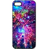 K9D Space Nebula Patterned Hard Case Cover Back Skin Shell Shield Protector For iPhone 5 5S Style C & With a Nice Gift Tattoo Sticker