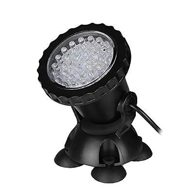 LemonBest® Submersible Pond Light 36 LED Color-changing Spot Light for Water Aquarium Garden Pond Pool Fish Tank, UK Plug
