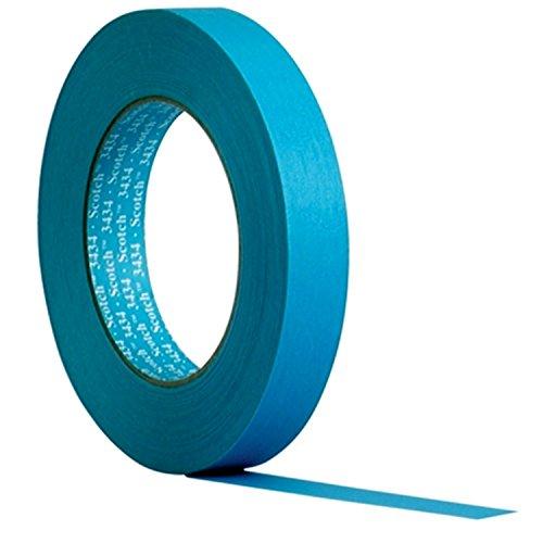 3MTM Scotch® Water Resistant Blue Masking Tape 3434 - (19 mm x 50 m) 48 x Rolls