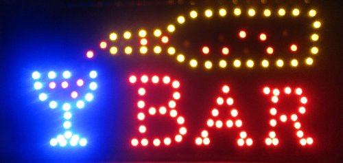 2Xhome - Open Led Signs - Big & Bright High Visibility Sign - Moving Motion Effect Flashing Effects Animation Animated Sign Multiple Colors Color Multi Colored Classic Attention Catcher Getter Illuminated Illuminate Lights Light Box Board For Business Sma