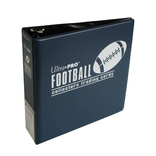 Ultra Pro 3-Ring (D-Ring Binder) Blue Football Card Album front-163352