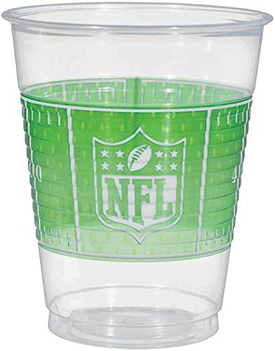 plastic cups, 16 oz. - nfl drive