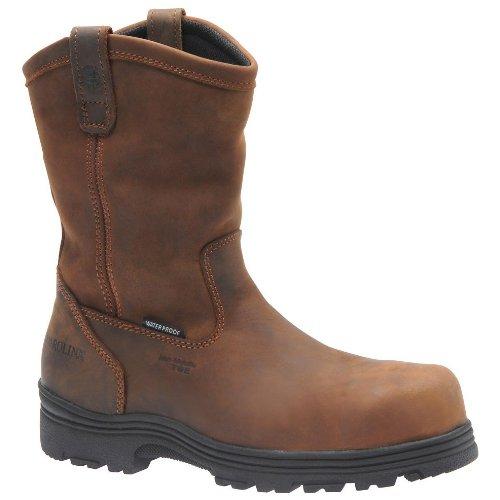 Carolina Men'S Waterproof Comp Toe Wellington Dark Brown Crazy Horse Lthr 9.5 2E Us