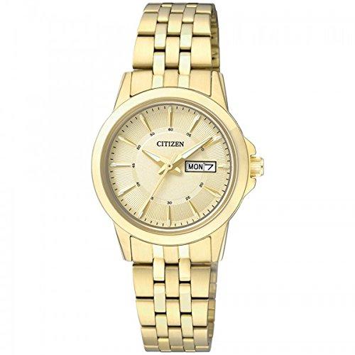 8c6329880873 Citizen mujer-reloj analógico de cuarzo de acero inoxidable EQ0603-59PE