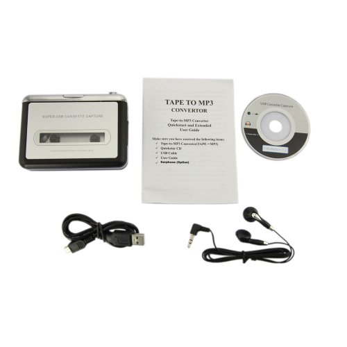 USB Portable Cassette to MP3 Converter Tape-to-MP3 Player wi