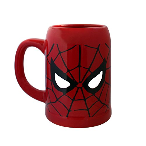 Silver Buffalo MC7041 Marvel Spiderman Ceramic Stein Mug, 22-Ounces
