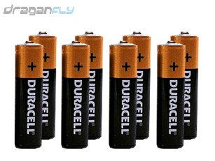 8 (Eight) Alkaline AA Batteries For Your Transmitter