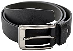 URBAN DISENO Men's Belt (Ud-belt-10_Medium, Black, Medium)