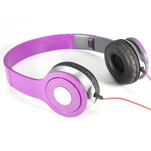 3.5Mm Foldable Stereo Headset Ear Headphone For Pc Laptop Mp3/4 Phone Music 4 Color Choice
