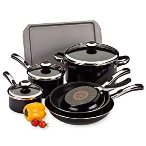Amazon.com: Farberware Select 10-Piece Cookware Set, Black ...