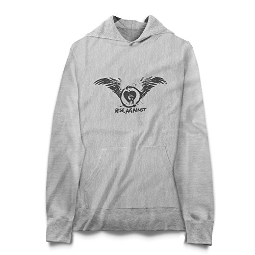 Rise Against Heart And Wings Logo Felpa Hoodie Donna - Express Dispatch - S M L XL XXL sizes