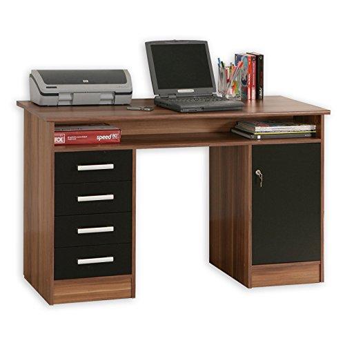 ROLLER-Schreibtisch-NET106-Walnuss-schwarz