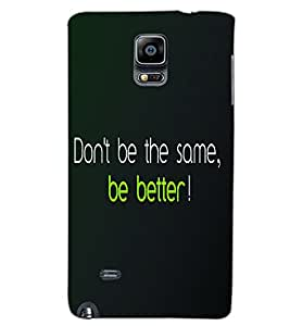 SAMSUNG GALAXY NOTE EDGE DON'T BE SAME Back Cover by PRINTSWAG