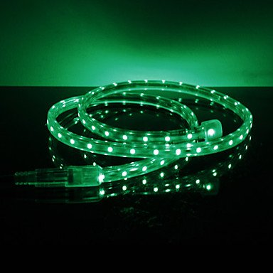 Waterproof 3.5W/M 3528 Smd Green Light Led Strip Lamp (220V, Length Selectable)
