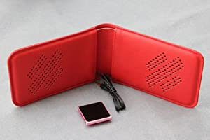 Right-EAR ポータブルスピーカー Bookspeaker BS-211 Red (牛革)