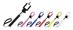 Memore AUX Selfie Stick for Apple & Android Devices (Colour May Vary)(without battery)