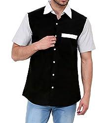Dazzio Men's Slim Fit Cotton Casual Shirt (DZSH0159_Grey_42)
