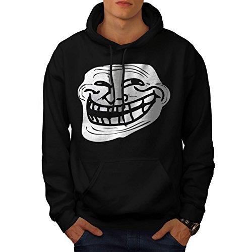 Trollface Troll Meme Men NEW Black XL Hoodie | Wellcoda