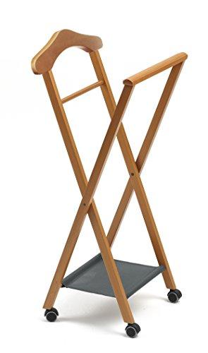 119 NELSON Herrendienerstuhl/Stummer Diener, klappbar, Massivholz Buche natur 46 x 105 x 38 cm