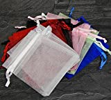 84pc Organza Large Mixed Jewelry Pouch Bags Display
