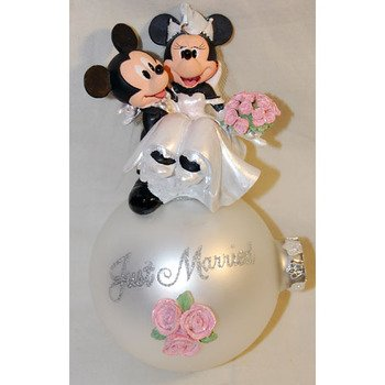 Disney Mickey & Minnie Wedding Ball Ornament