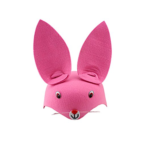 Cute Animals Hat Kids Cosplay Halloween Costume Ideas Pink Rabbit