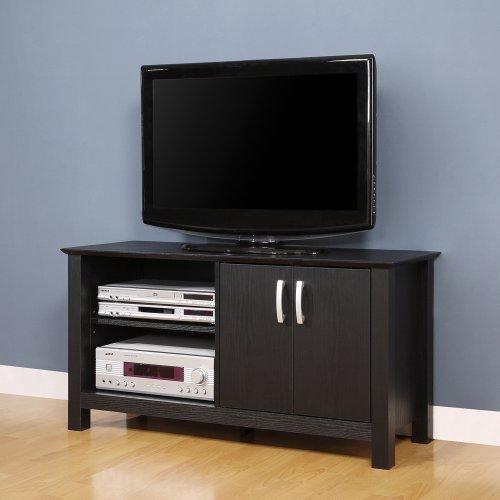 best walker edison 44 inch open shelf wood tv stand console black on sale cabinets for sale. Black Bedroom Furniture Sets. Home Design Ideas