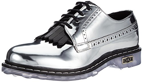 Cult Sabbath Scarpe derby stringate, Donna, Argento (Silver/Black), 39