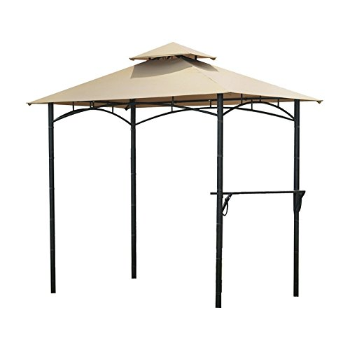 Backyard Canopy Gazebo : Garden Winds Bamboo Look BBQ Gazebo Replacement Canopy  Gazebos