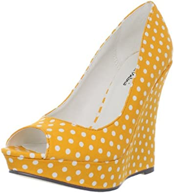 Michael Antonio Women's Aurora Wedge Pump,Yellow,6.5 M US