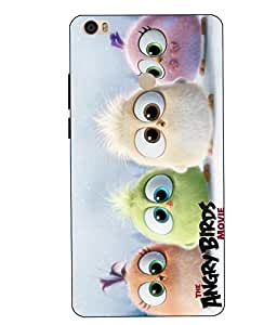 Make My Print Angry Bird Printed Colorful Hard Back Cover For Xiaomi Redmi MI MAX