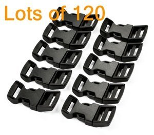 Find Bargain Cosmos ® 120 PCS 5/8 Inch Economy Contoured Side Release Plastic Buckles with Cosmos F...