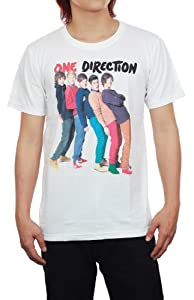 One Direction UK Boy Band Digital Print White Unisex Music T-Shirt