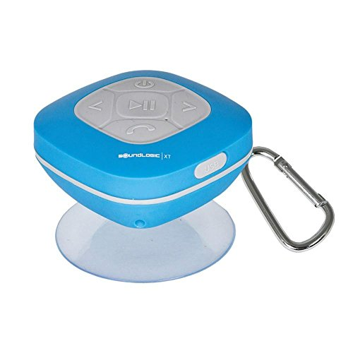 Sound Logic Splash Proof Shower Speaker with FM Blue